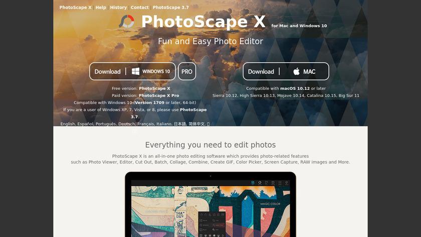 Photoscape Landing Page