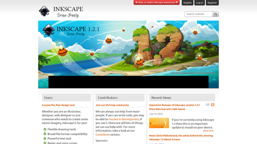 Inkscape Landing Page