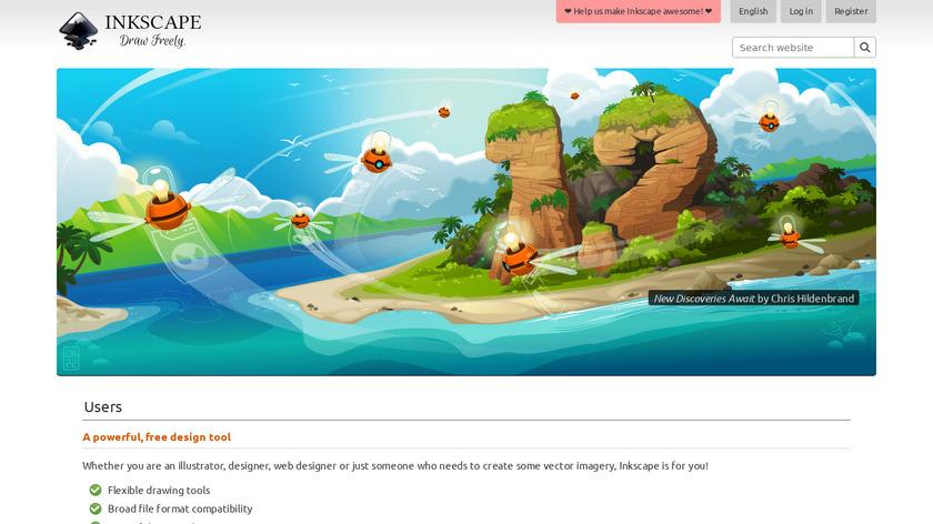 Inkscape Landing Page