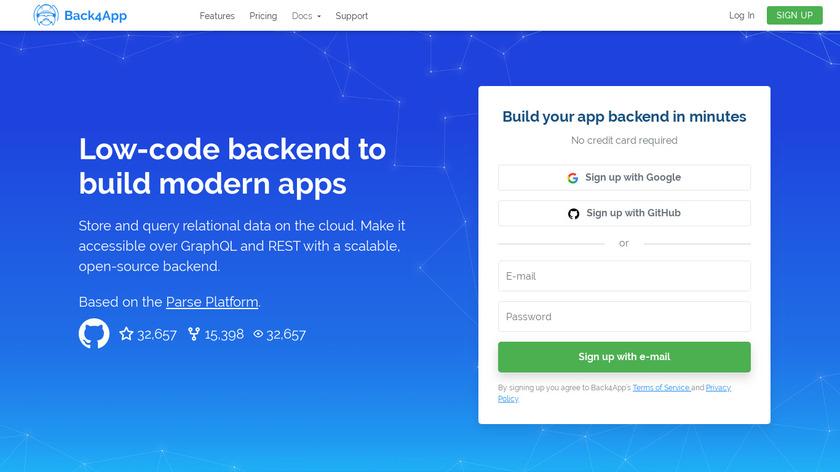 Back4App Landing Page