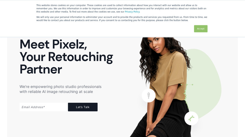 Pixelz Landing Page