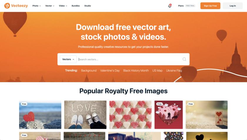 Vecteezy Landing Page