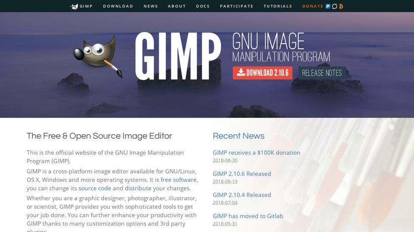 GIMP Landing Page
