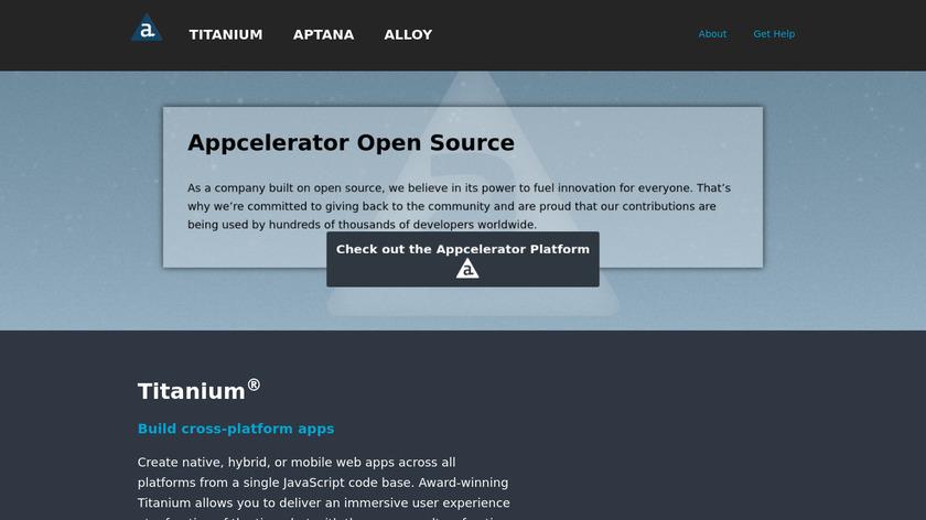 Appcelerator Titanium Landing Page