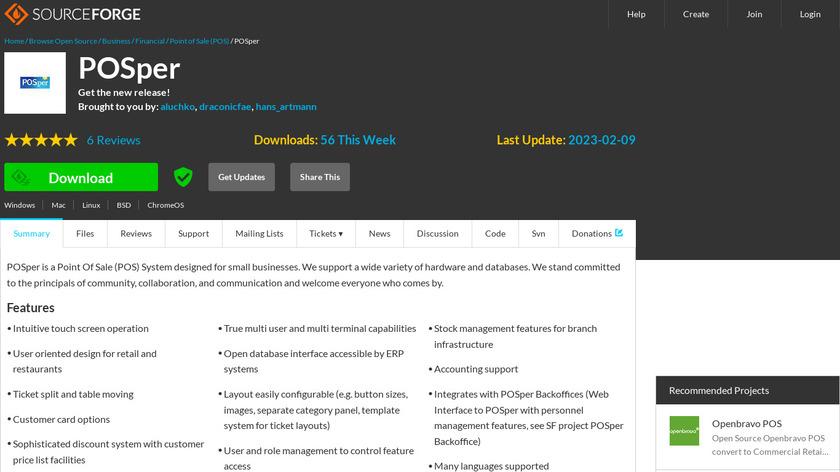 POSper Landing Page