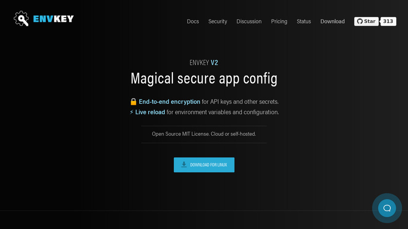 EnvKey Landing Page