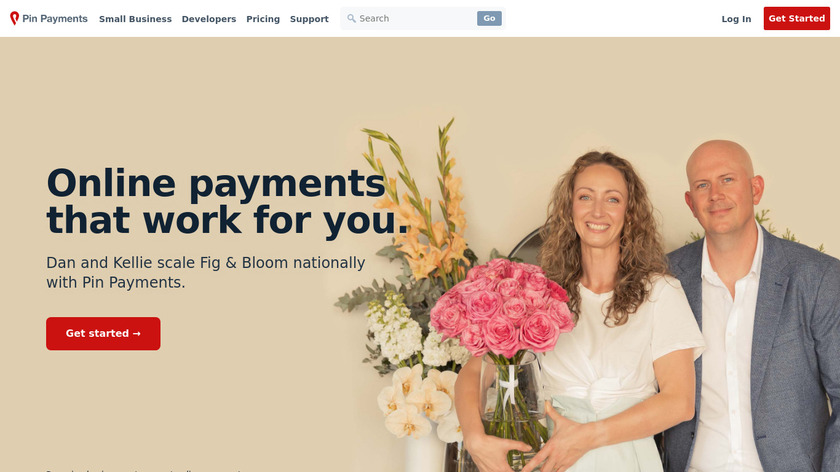 PinPayments Landing Page