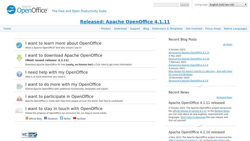 Apache OpenOffice Landing Page