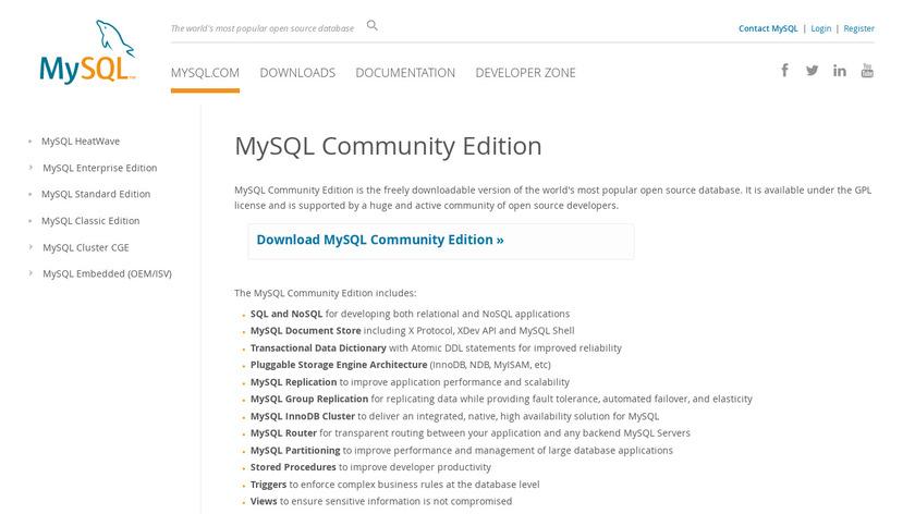MySQL Community Edition Landing Page