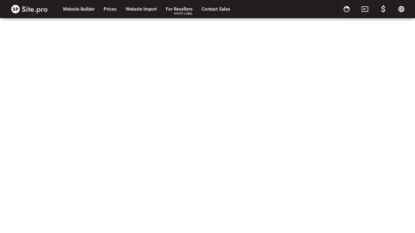 Site.pro Landing Page