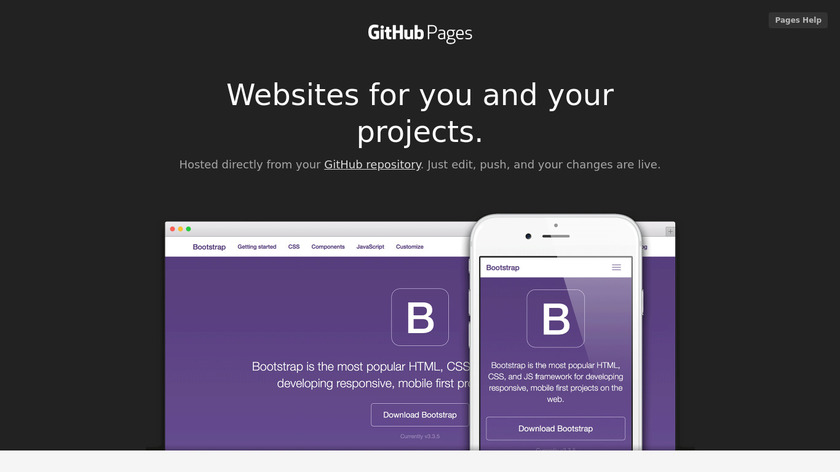 GitHub Pages Landing Page