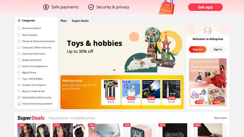 Aliexpress Landing Page