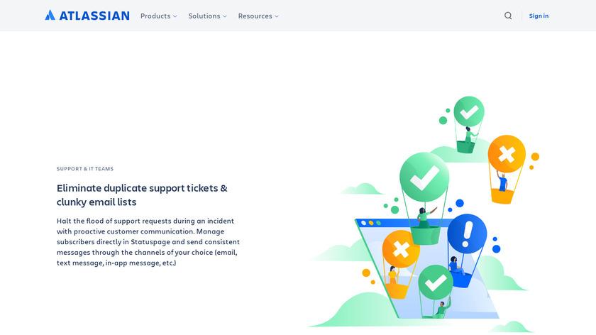 Atlassian Statuspage Landing Page