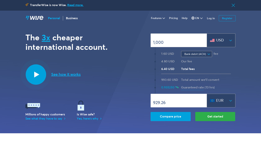 Wise Landing Page