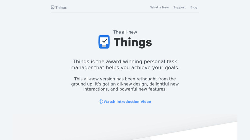 Things Landing Page