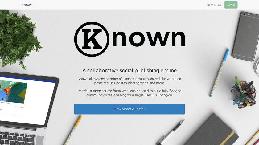 Known Landing Page