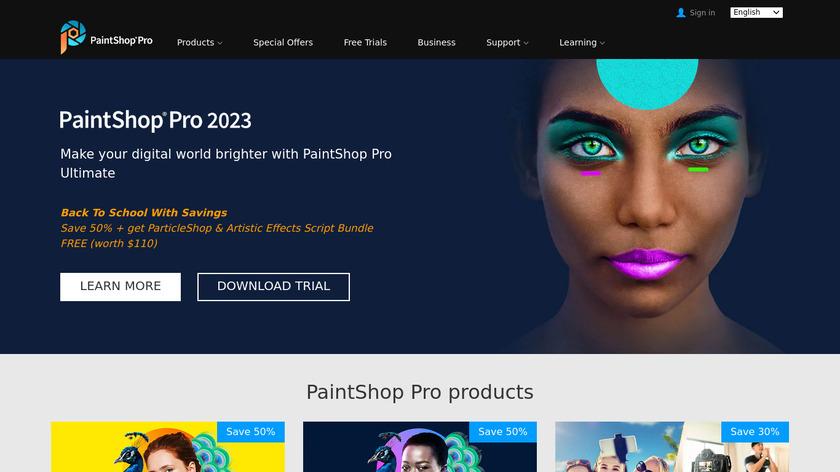 Corel PaintShop Pro Landing Page
