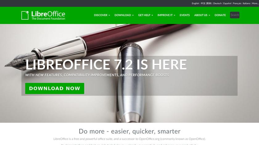 LibreOffice Landing Page
