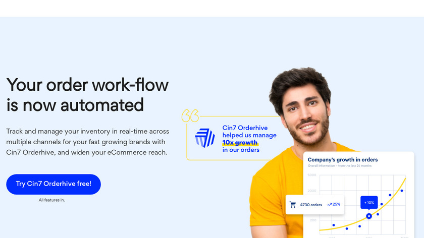 Orderhive Landing Page
