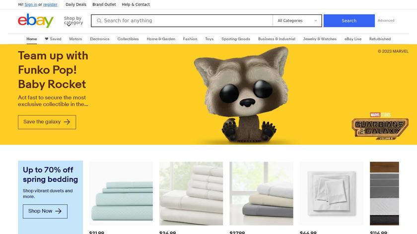 eBay Landing Page