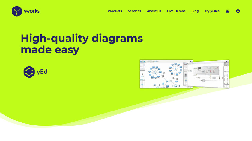 yEd Graph Editor Landing Page