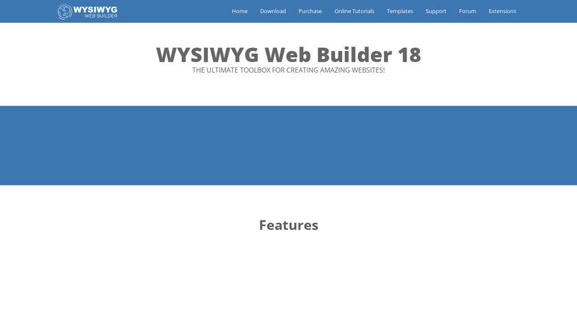 WYSIWYG Web Builder Landing Page