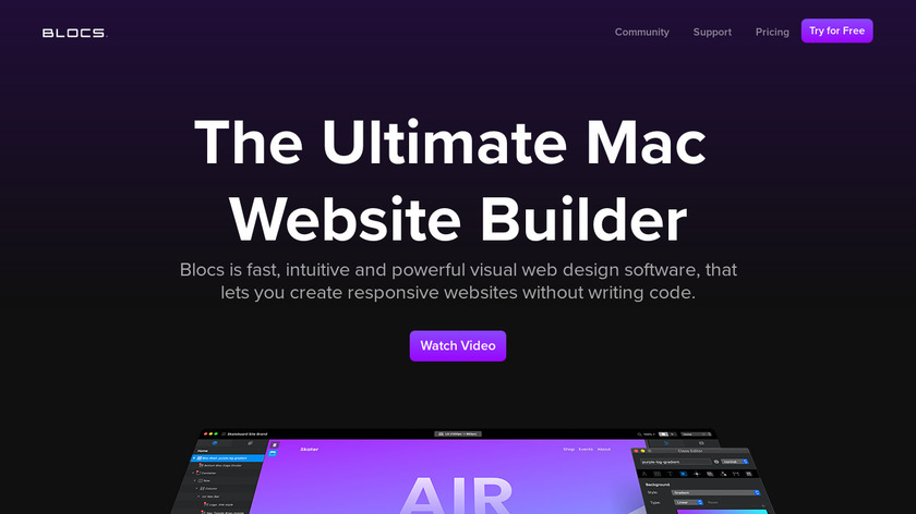 BLOCS Landing Page