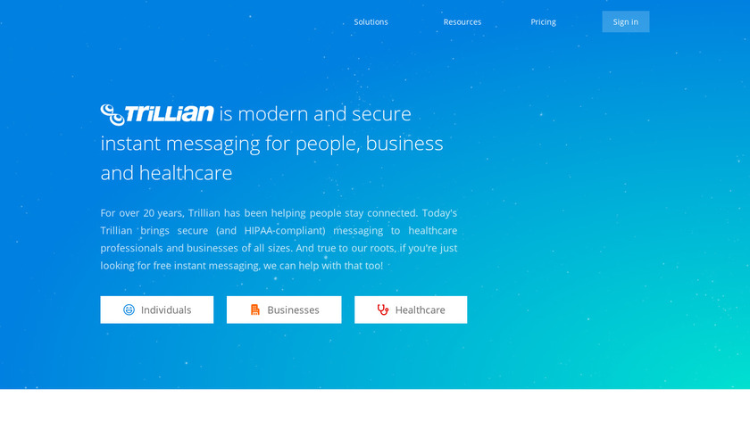 Trillian Landing Page