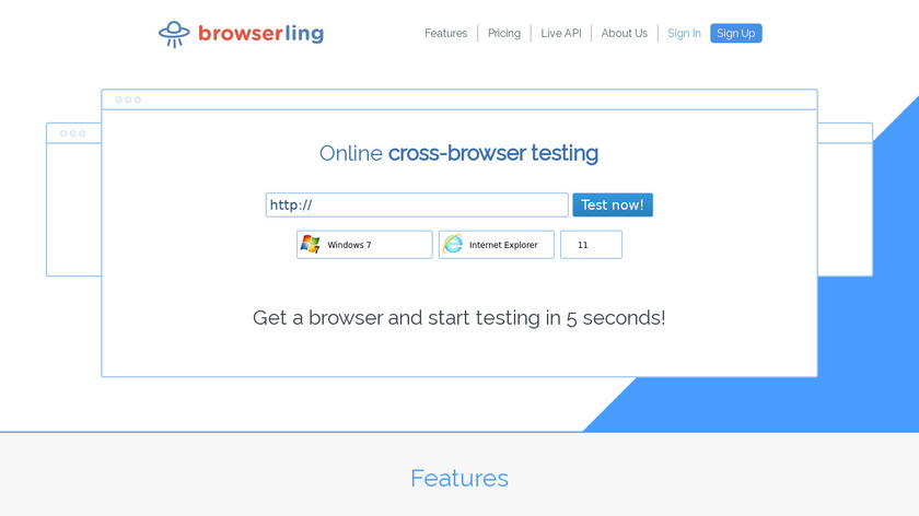 browserling Landing Page