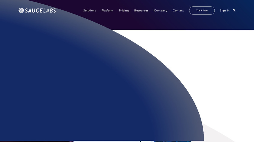 Sauce Labs Landing Page