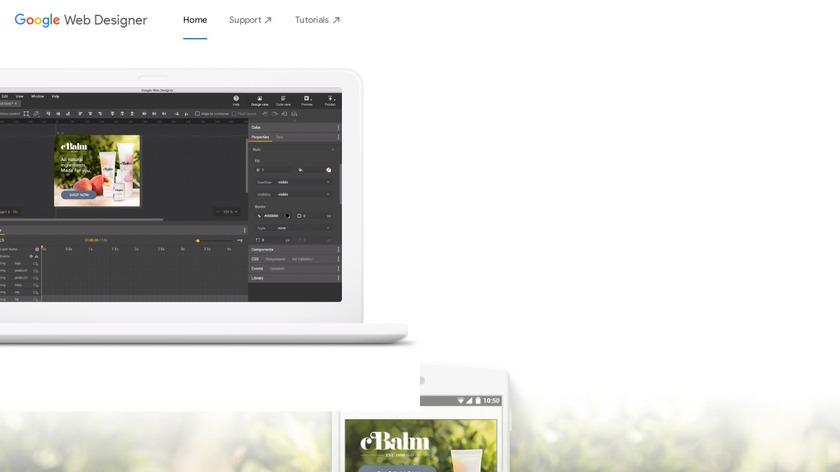 Google Web Designer Landing Page