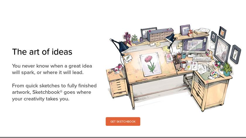 Autodesk SketchBook Landing Page