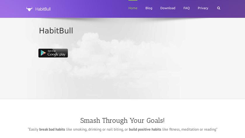 HabitBull Landing Page