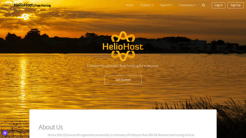 HelioHost Landing Page