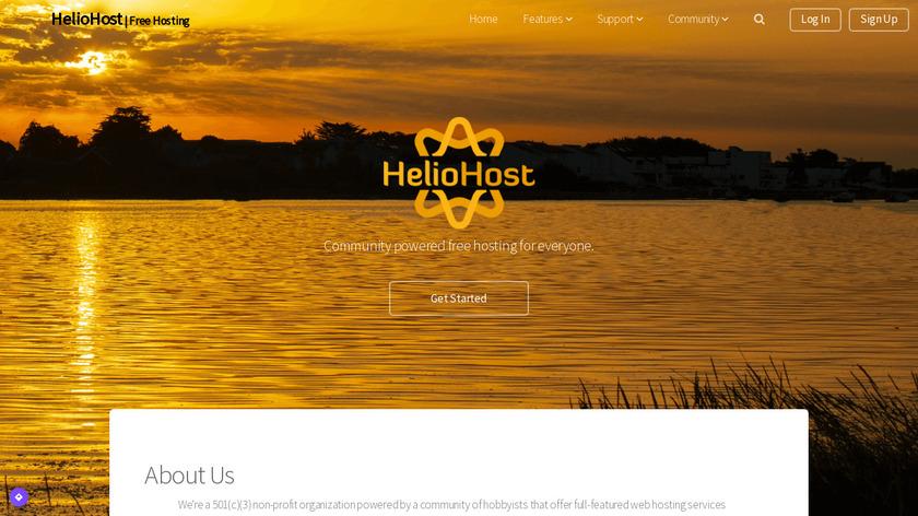 HelioHost Landing Page