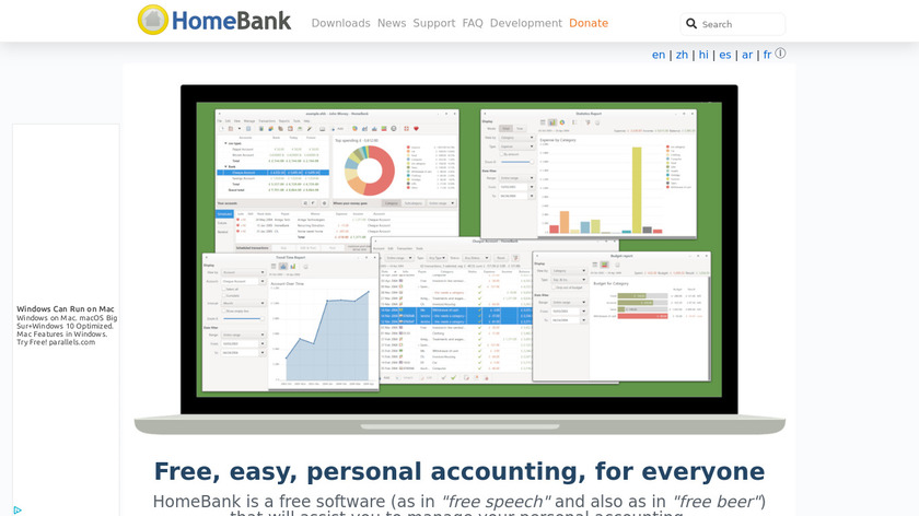 HomeBank Landing Page