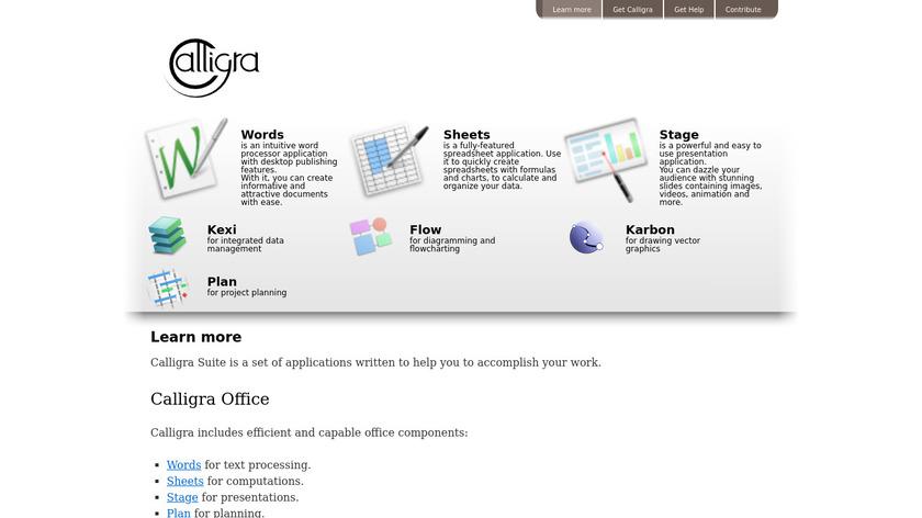Calligra Suite Landing Page