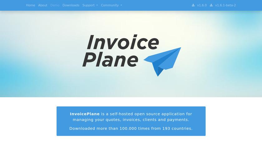 InvoicePlane Landing Page