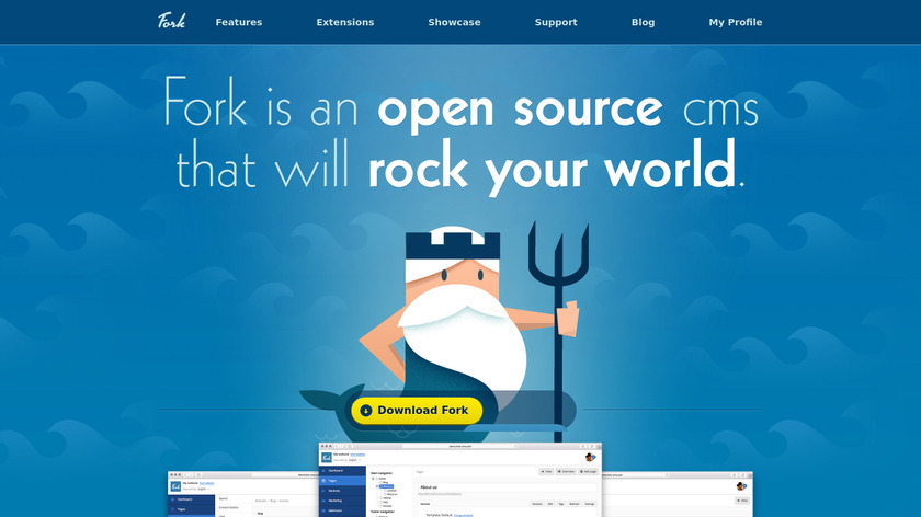 Fork CMS Landing Page