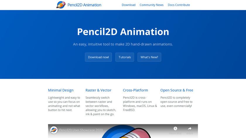 Pencil2D Landing Page
