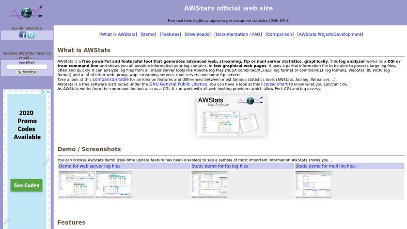 AWStats Landing Page