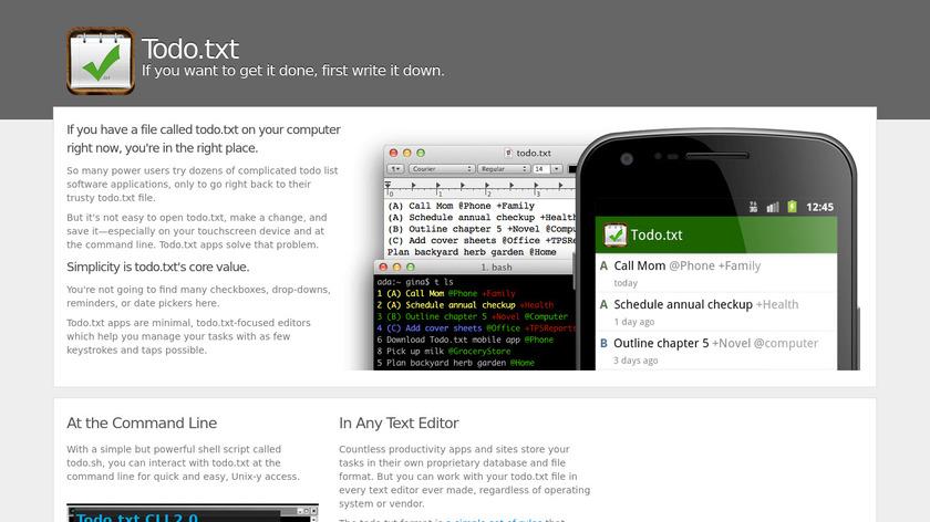 Todo.txt Landing Page