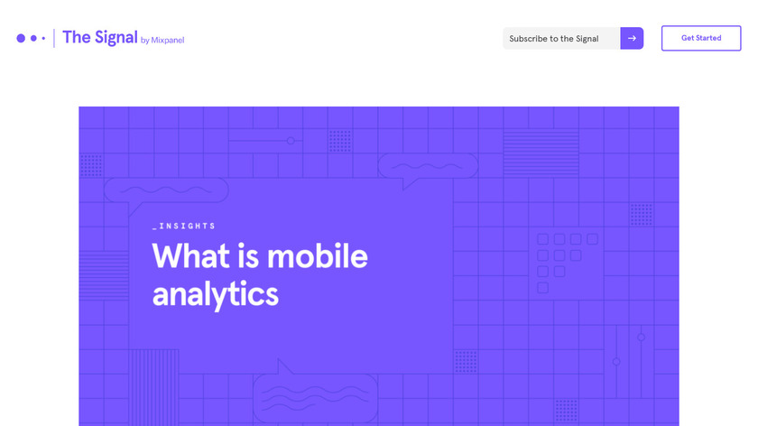 Mixpanel Mobile Analytics Landing Page