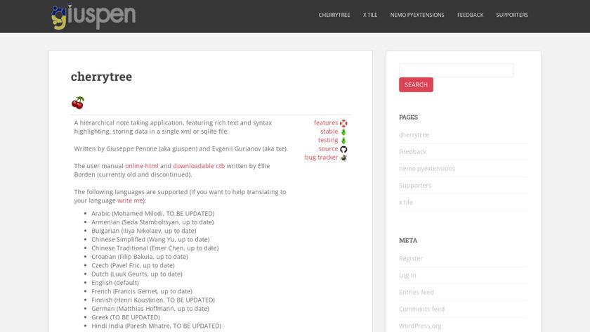 CherryTree Landing Page