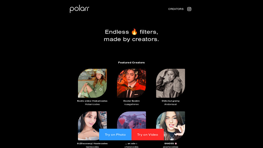 Polarr Landing Page