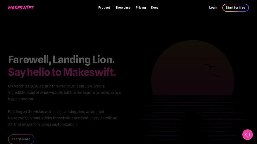 Landing Lion Landing Page