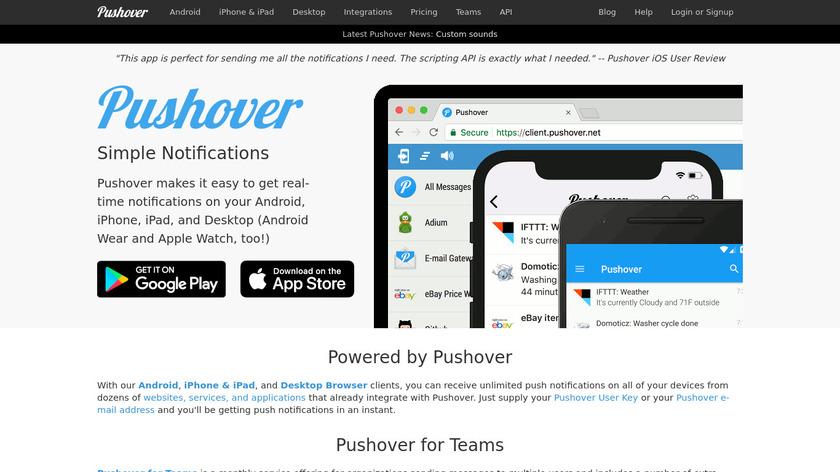 Pushover Landing Page
