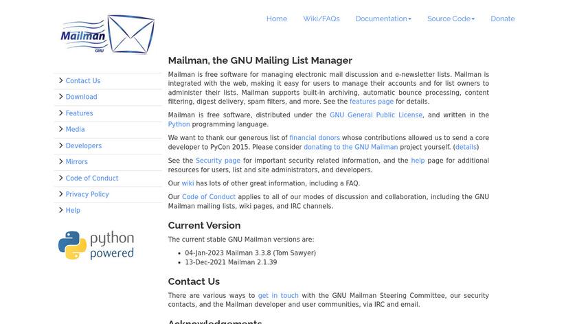 Mailman Landing Page