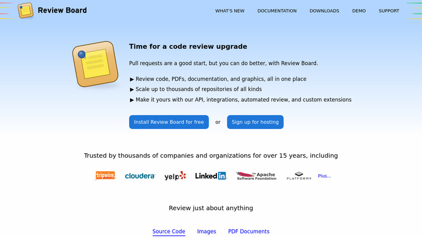 Review Board Landing Page