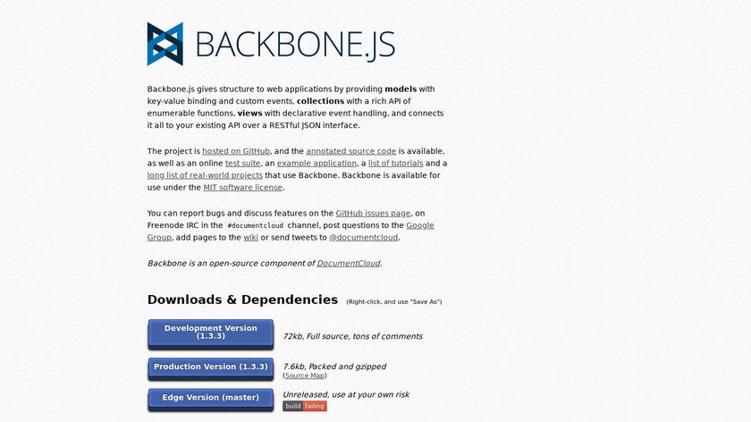Backbone.js Landing Page